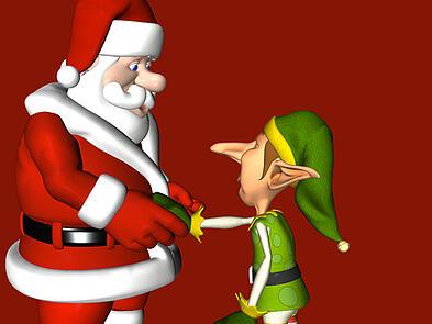 Santa Hiring an Elf