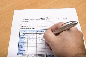 Time sheet management image